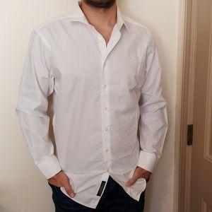 Murano slim fit button-up dress shirt